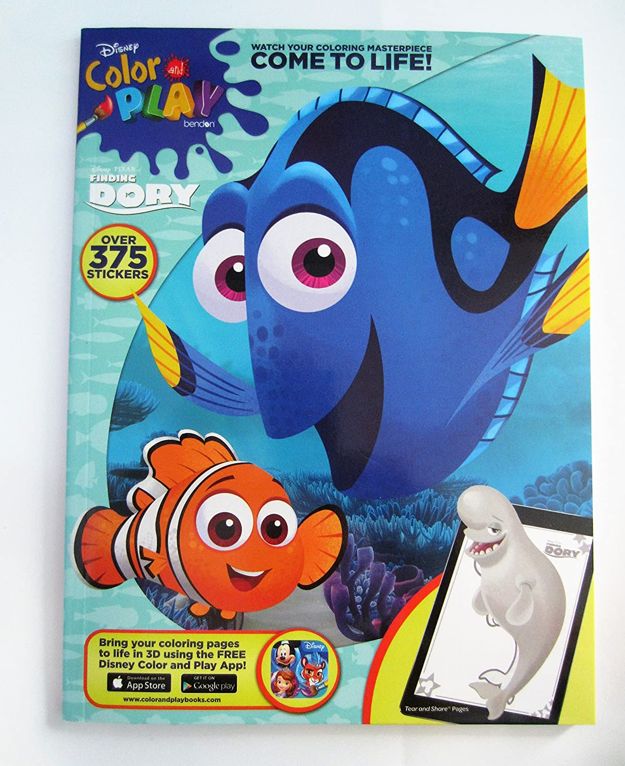 Amazon com: Disney - Pixar New Color and Play Finding Dory Books