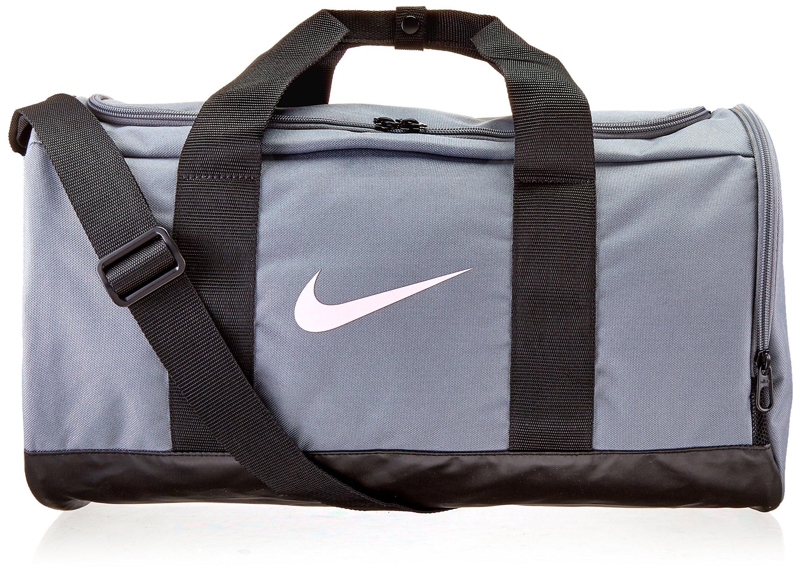 NIKE Team Women's Training Duffel Bag, Cool Grey/Black/Storm Pink, One Size