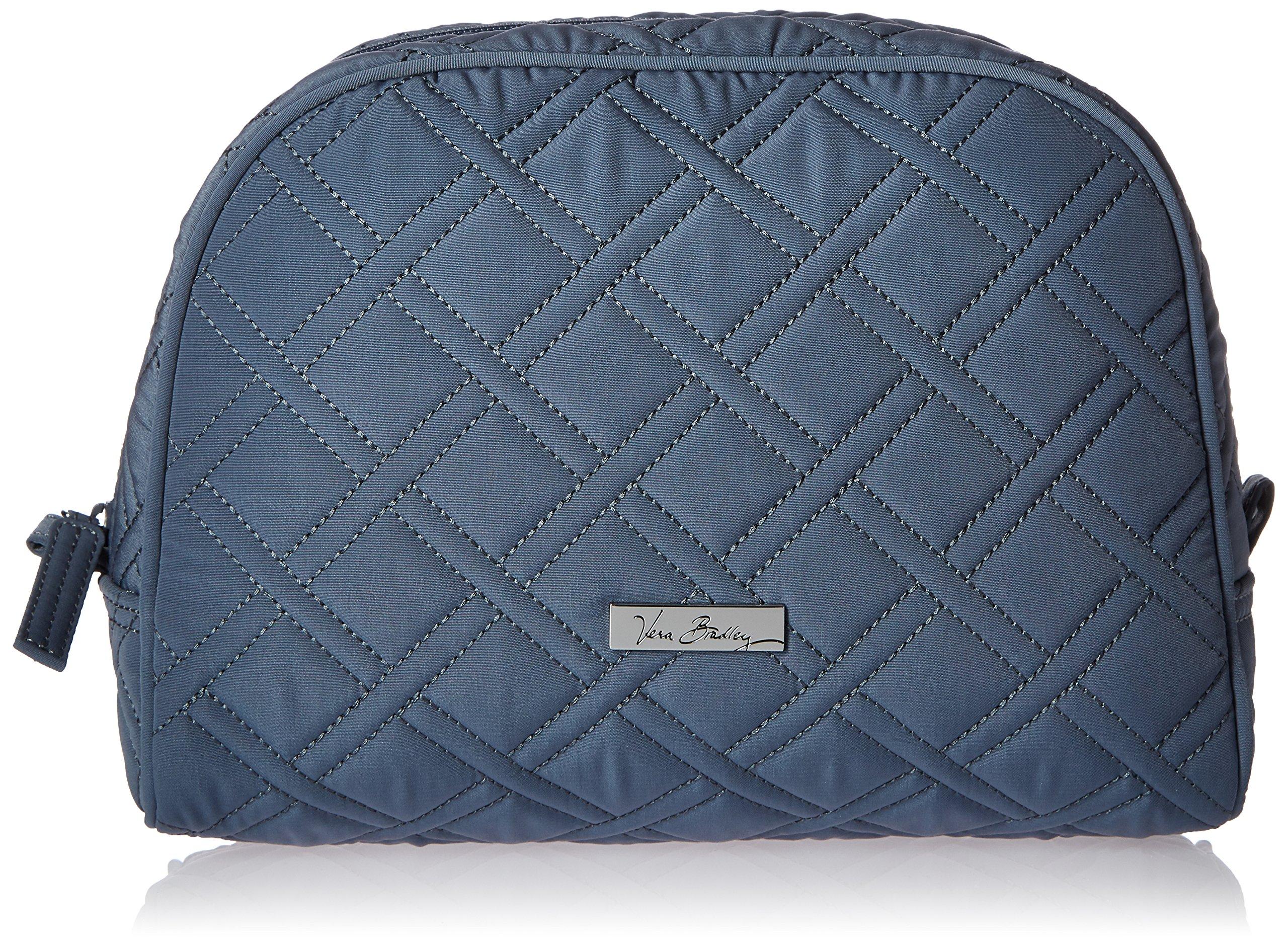 Vera Bradley Large Zip Cosmetic, Charcoal