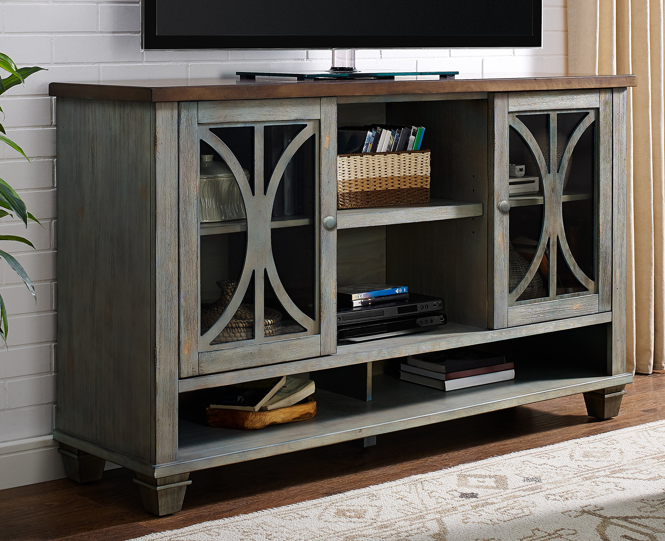 Martin Furniture Fully Assembled Bailey Deluxe Console, 60'', Weathered Green by Martin Furniture