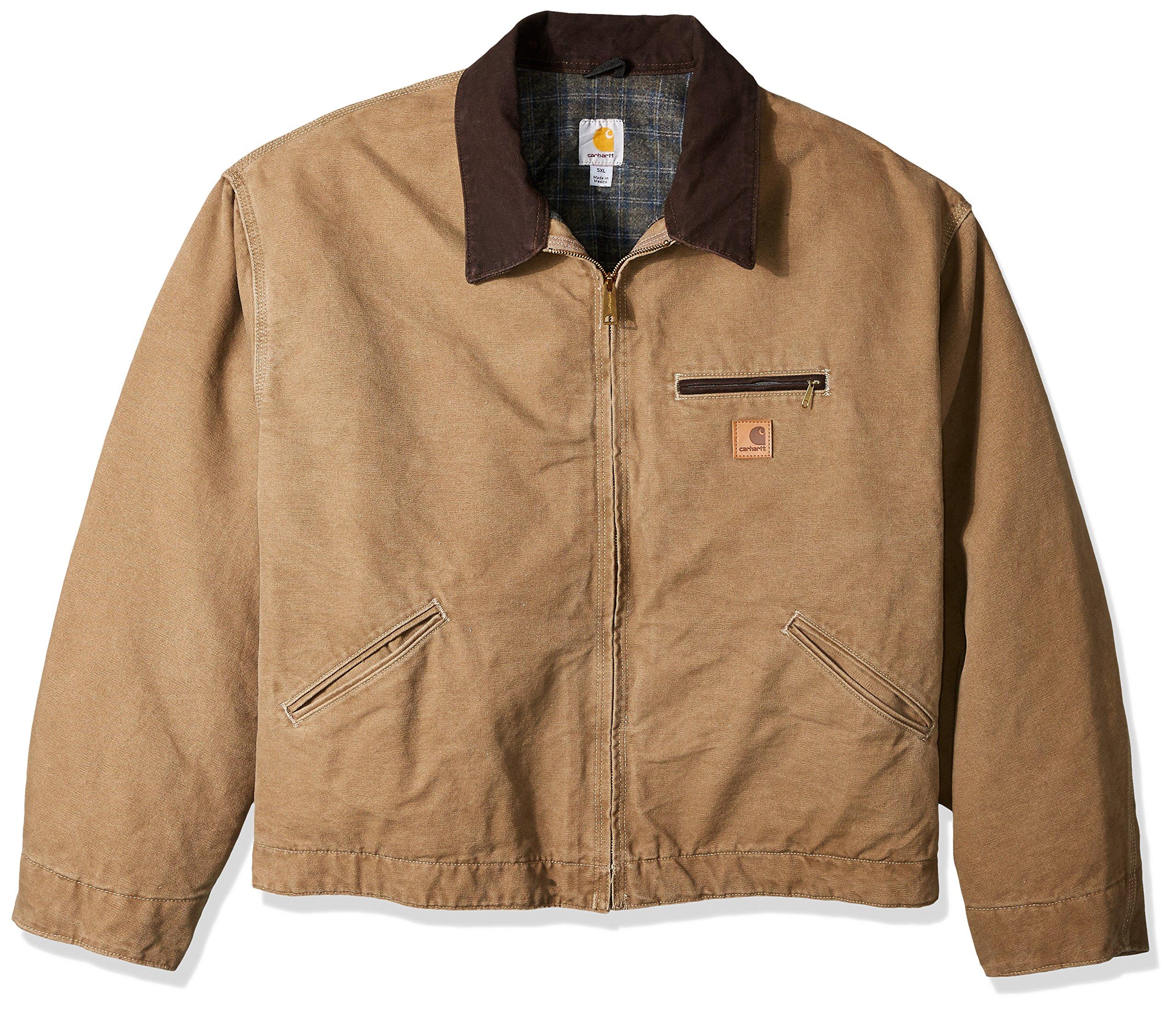 05e1b70c7 Galleon - Carhartt Men's Blanket Lined Sandstone Detroit Jacket J97 ...
