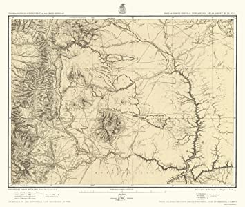 North New Mexico Map.Amazon Com Topographical Map New Mexico North New Mexico Us