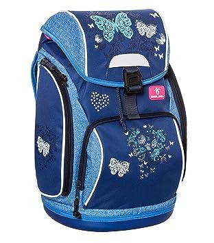 am besten geliebt meistverkauft großer Verkauf Belmil Ergonomischer Schulranzen für Schule, Outdoor und Reisen - für  Mädchen, 1.-4. Klasse in blau, Jeans | Schmetterling