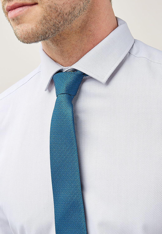 next Hombre Camisa Texturizada De Corte Ajustado con Corbata Y ...