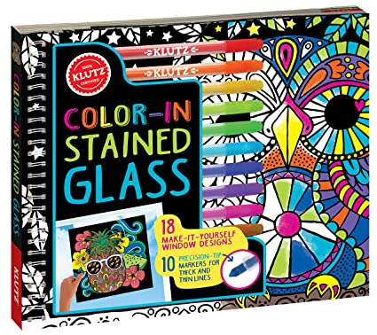 klutz color in stained glass 18 make it yourself window designs - How To Make Stained Glass Windows