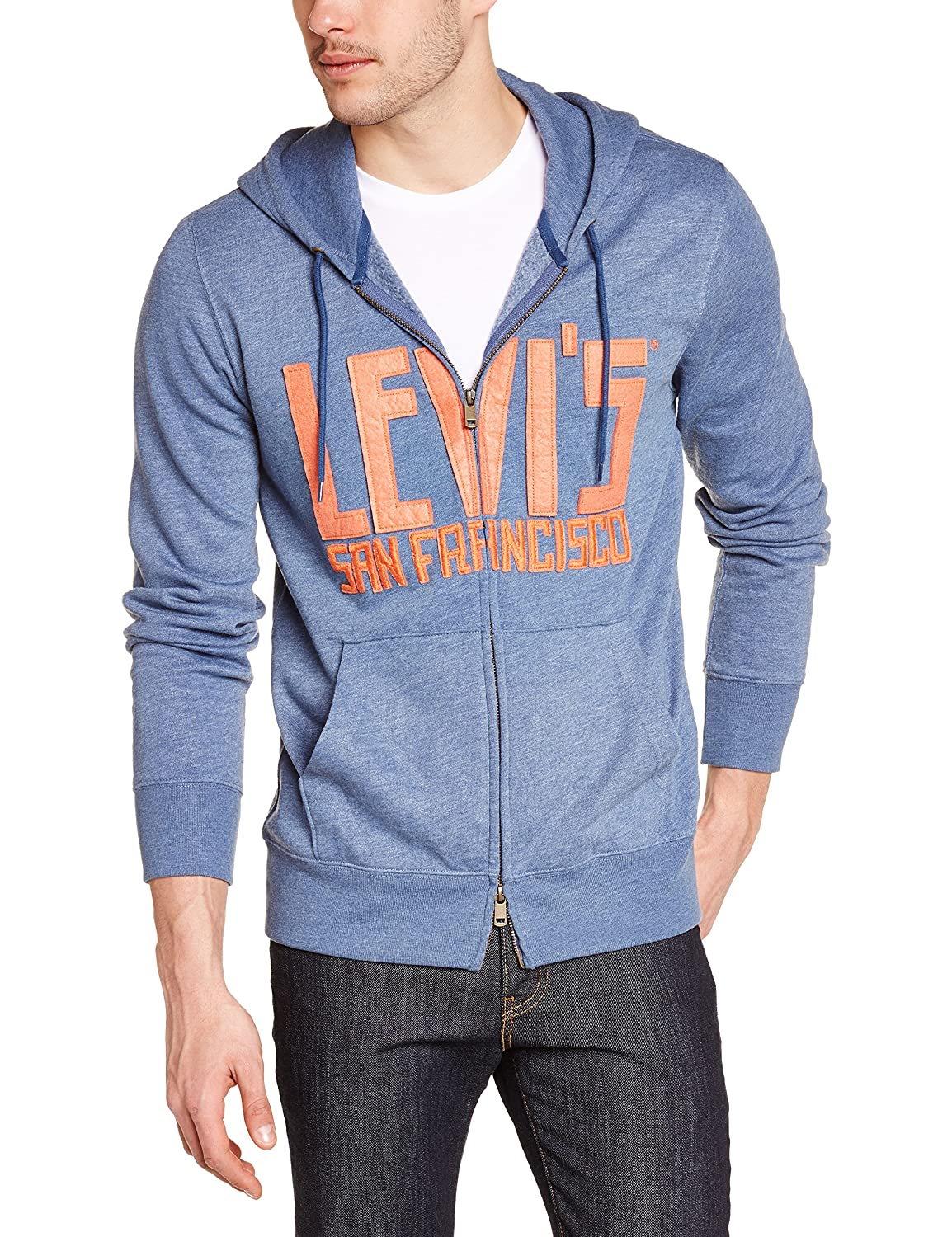 Levis Graphic Zip Up - Sudadera para Hombre, Color Blau - Bleu (c14094 h1 15 fnd SS 1.1 Graphic Ocean Blue), Talla S: Amazon.es: Ropa y accesorios