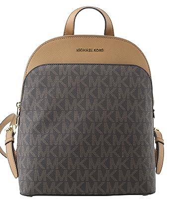 56da5d515f59 Michael Michael Kors Women's Emmy Leather Backpack (Brown/Acorn ...