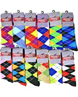 12 Pairs / 6 Pairs Colorful Fashion Design Dress socks 10-13
