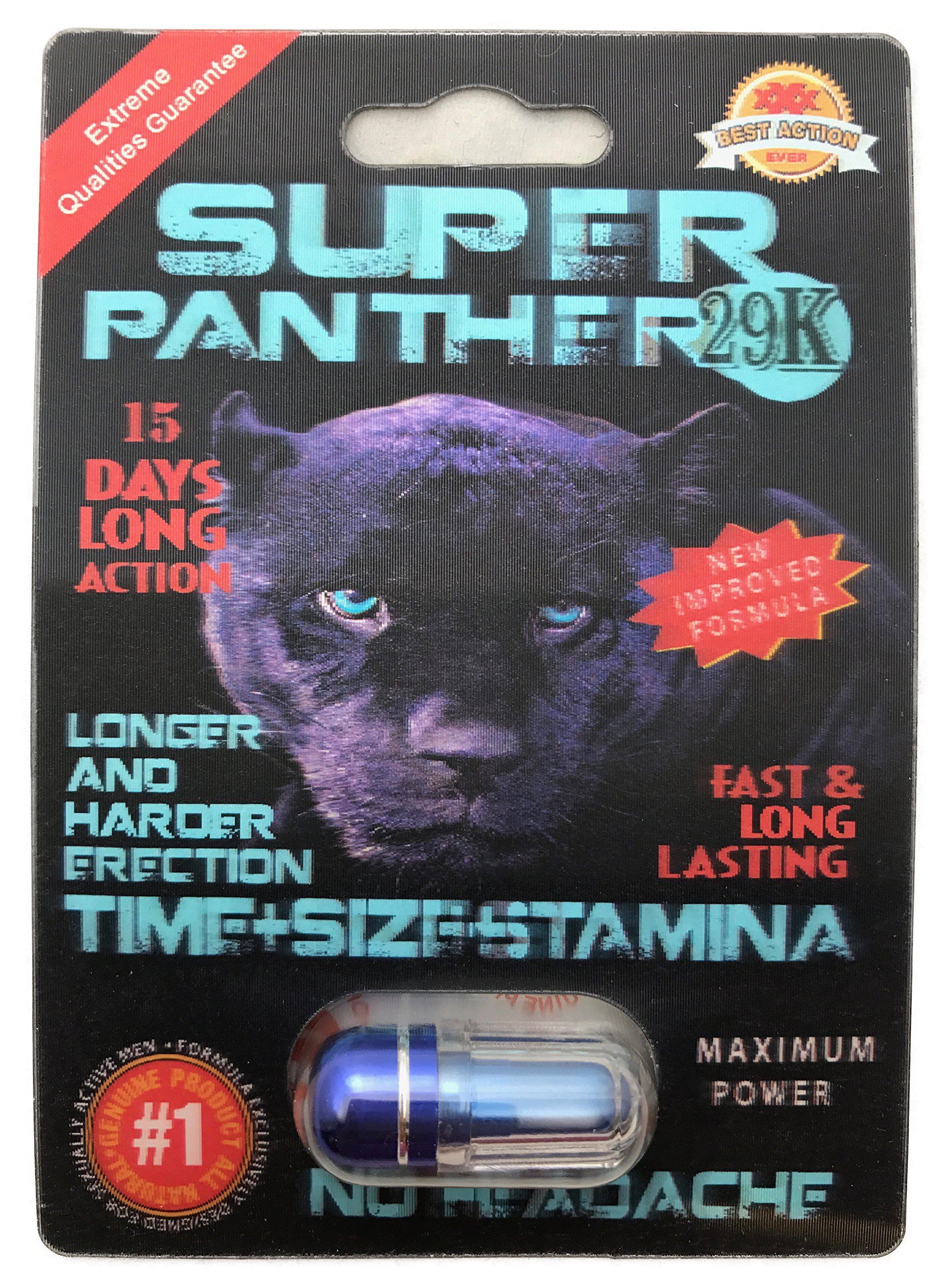 NEW Arrival - Super Panther 29K 3D - Feel even MORE POWER - Time Size Stamina - (20 Pack) LIMITED EDITION PLUS FREE LOVE POTION EXCLUSIVE PEN