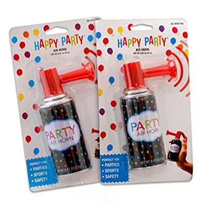 Air Horn - Mini Fog Horn Noise Maker with Hand held Pump 2pks of 1 Can .81oz: Toys & Games