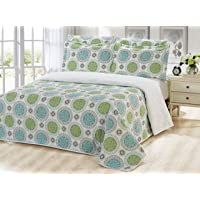 Dream Bedding 6 Piece Pinsonic Printed Bedding Bedspread Coverlet Quilt Sheet Set