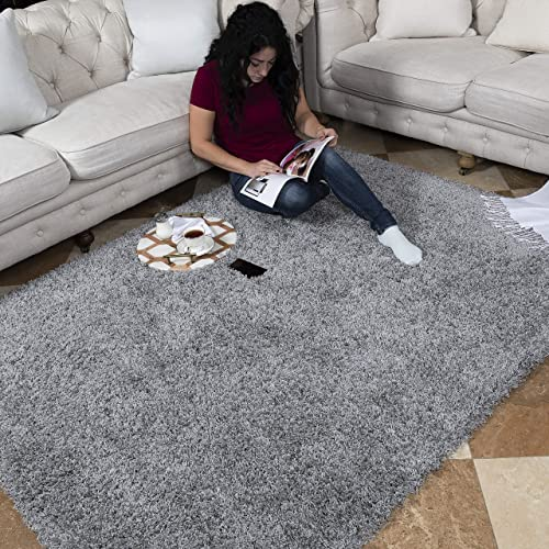 Ottomanson SHG2763-8X10 Collection shag Area Rug, 7 10 x 9 10 , Gray