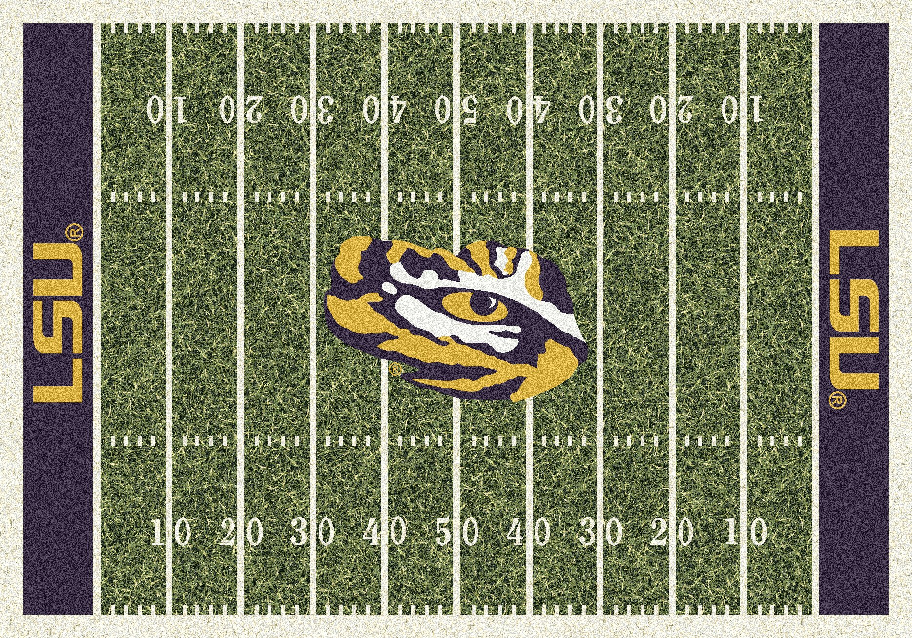 LSU Tigers NCAA College Home Field Team Area Rug 3'10''x5'4''