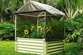 Outflexx Hochbeet Stahl Creme 45 X 45 X 46 Cm Amazon De Garten