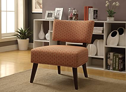 ACME Able Orange Fabric Accent Chair