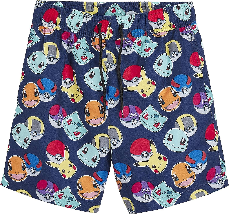 Trajes De Nataci/ón para Ni/ños Pok/èmon Pantalones Cortos Pantalones Cortos De Nataci/ón para Ni/ños con Pikachu Y Pokeballs Ropa para Ni/ños En Tama/ño 5 A 14 A/ños