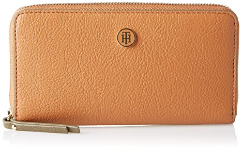 Tommy Hilfiger Effortless Novelty Lrg Za Wallet Cartera para Mujer, Gris (Cognac) 2.5