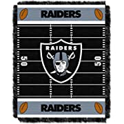 The Northwest Company Officially Licensed NFL Oakland Raiders Field Bear Woven Jacquard Baby Throw Blanket, 36  x 46