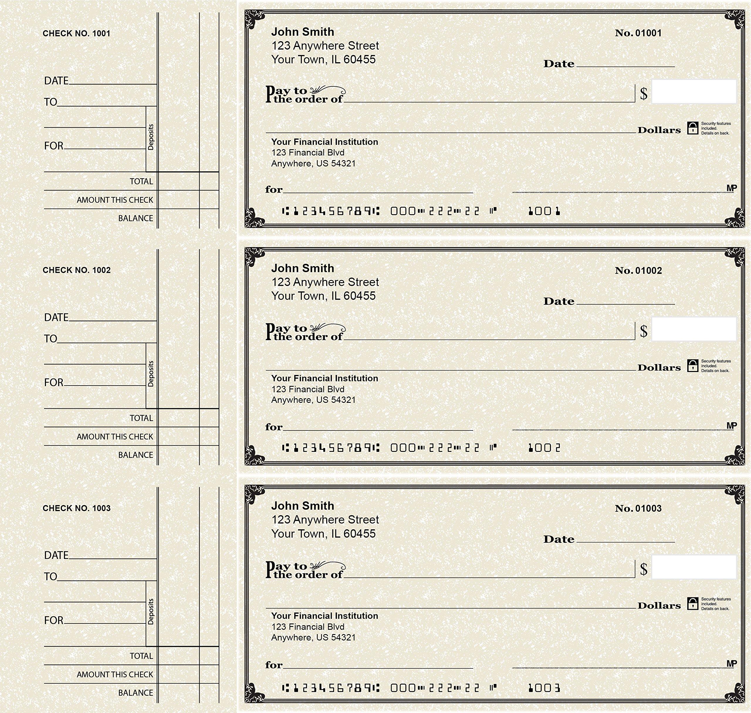 Deskset Personal Checks (300 Duplicate Checks, Parchment)