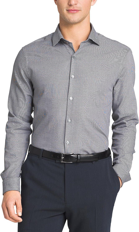 Kenneth Cole Mens Slim Fit Check Spread Collar Dress Shirt