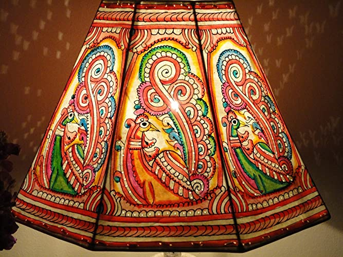 Amazon bird lampshade hand painted leather lampshade floor bird lampshade hand painted leather lampshade floor lamp lamp shade floor lampshade aloadofball Images