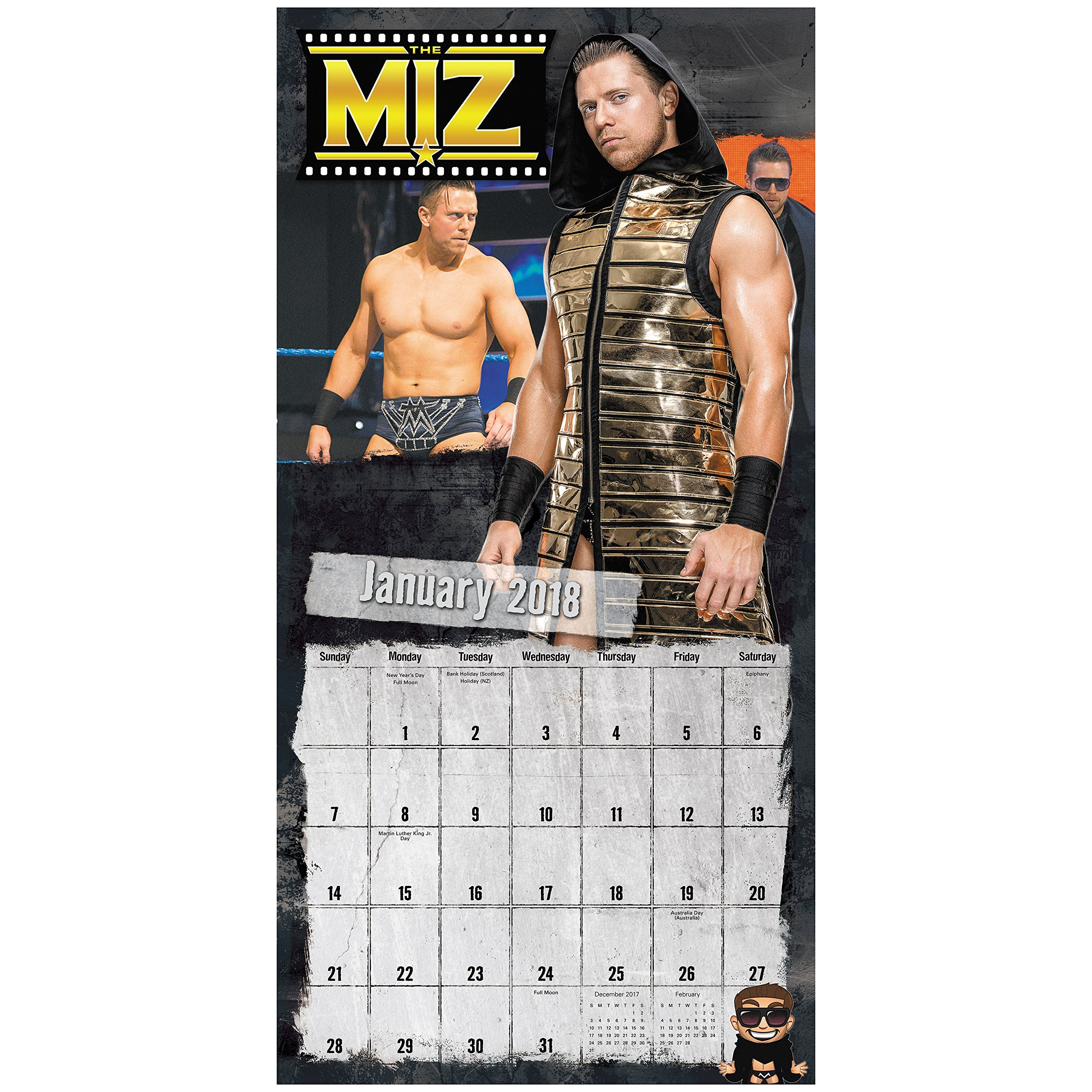 2018 WWE Wall Calendar /(Mead/) Calendar – July 15, 2017 1682096734 ...