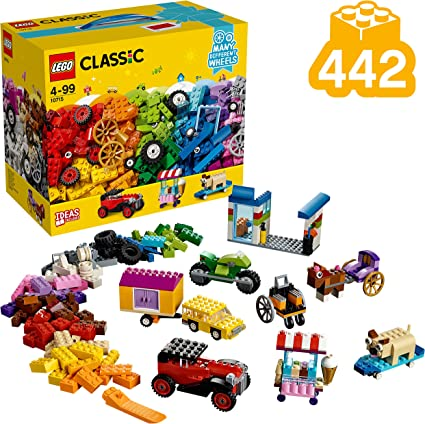 Lego 10715 Classic Bricks On A Roll Construction Set Colourful Vehicle Toy Bricks Building Playset With Tires And Wheels 422 Pieces Amazon Co Uk Toys Games