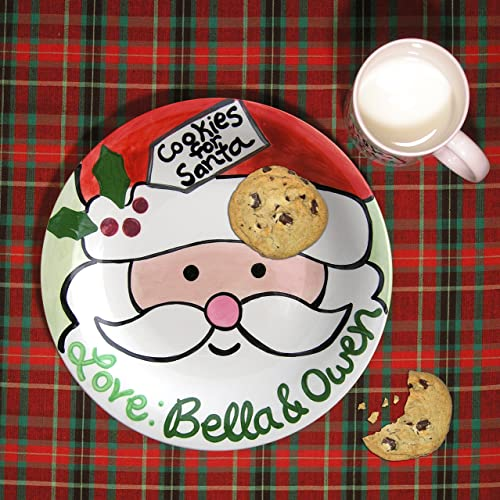Cookie for Santa Plate Personalized Santa Plate Hand painted ceramic plate Little Worm  sc 1 st  Amazon.com : painted ceramic plates - pezcame.com