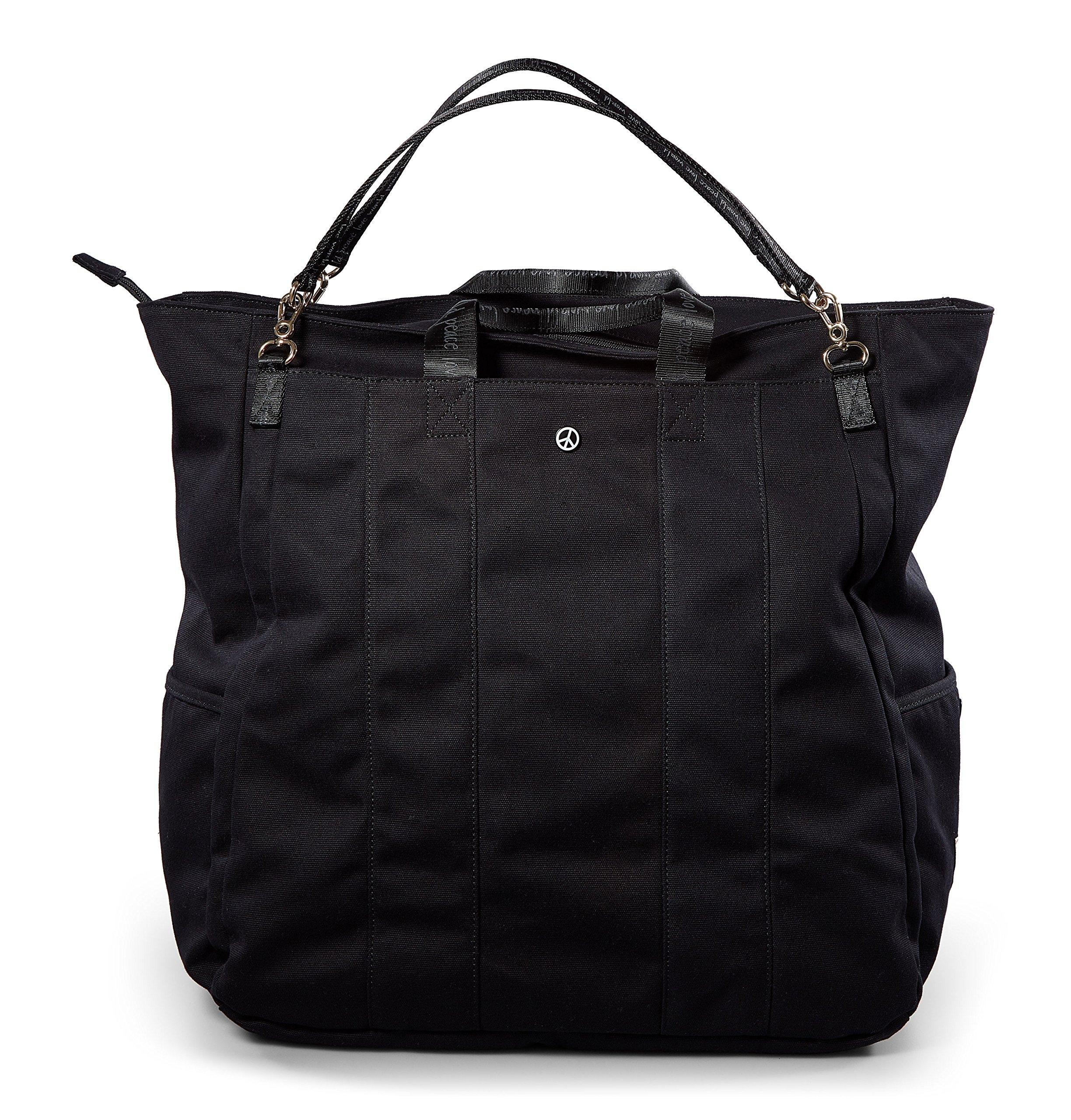 Peace Love World North Gym Duffle Bag South Gym Duffle Bag PLW204 Black (Black)