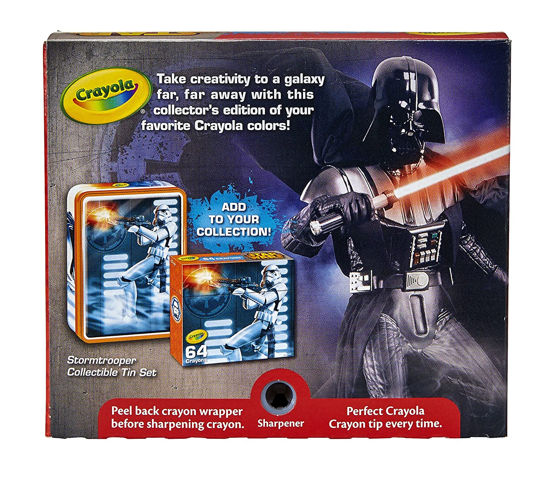 Crayola Star Wars Darth Vader Collectible Tin Crayons Toy Binney /& Smith 04-6849 64 Count