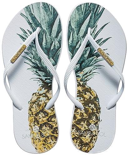 9fa1870a9b01 Women s Fashion Collection Flip Flops - Pineapple White Strap