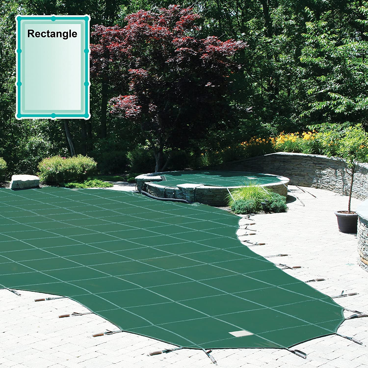 safety pool covers. Rectangle Meyco Safety Pool Cover : Swimming Covers Garden \u0026 Outdoor