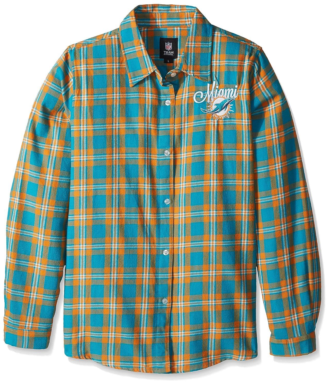 FOCO NFL Womens Cmbs2016 Wordmark Basic Flannel Shirt