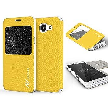 Urcover Funda Compatible con Samsung Galaxy A3 2016 S-View Carcasa ...