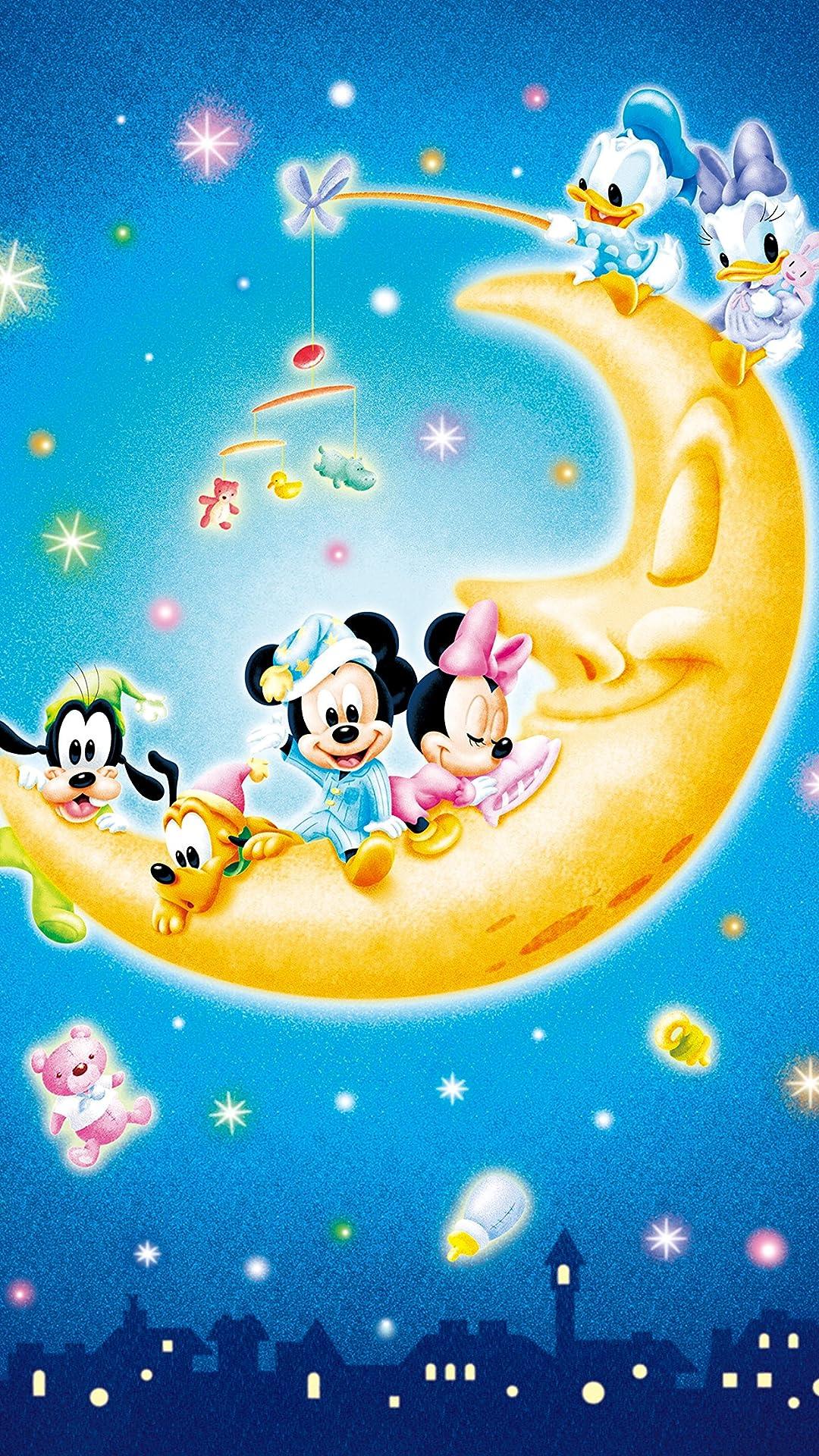 ディズニー お月さまとあそぼ フルhd 1080 19 スマホ壁紙 待受 画像