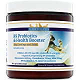 Best Probiotics Powder for Dogs with Glucosamine Chondroitin and MSM – Supplements for Hip and Joints Support – Arthritis Pain Relief – Digestive Enzymes – Diarrhea – Dry Skin – Allergies – 100% Natural and Organic
