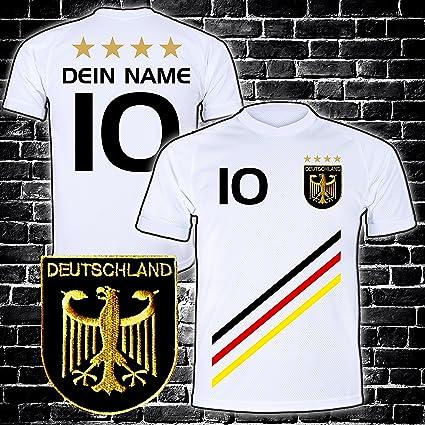 Elevensports Deutschland Trikot Mit Gratis Wunschname Nummer Wappen Typ D 2018 Gunstig Im Em Wm Weiss Geschenke Fur Kinder Jungen Baby Fussball
