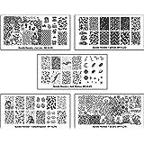 Bundle Monster 5pc Blogger Collaboration Nail Art Polish Stamping Plates - Set 3