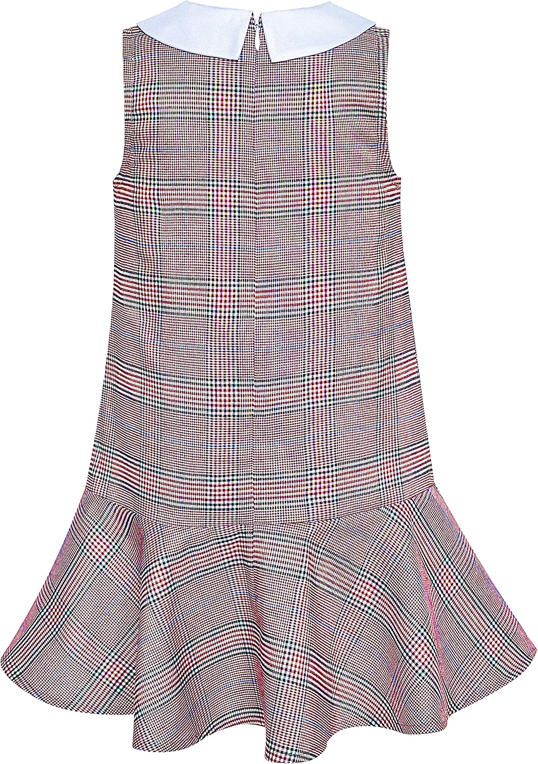 Sunny Fashion Girls Dress Khaki School Pleated Skirt Dress Age 4-12 Years