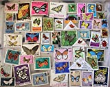 50 Butterflies and Insects stamps