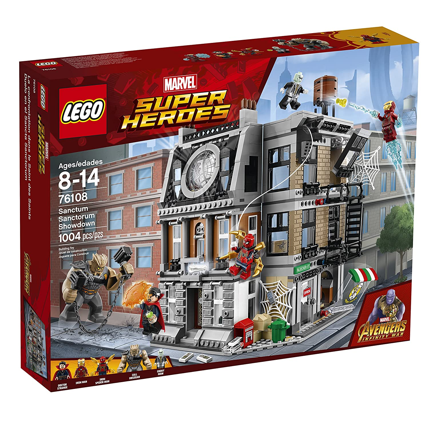 Lego Marvel Super Heroes Avengers Infinity War Sanctum Sanctorum Showdown 76108 Building Kit 1004 Piece