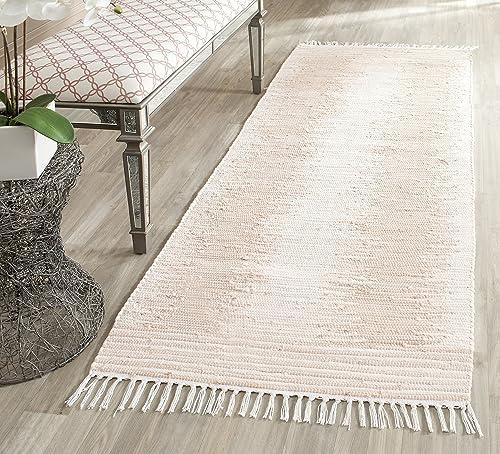 Safavieh Montauk Collection MTK752A Handmade Flatweave Beige Cotton Area Rug 2 6 x 4