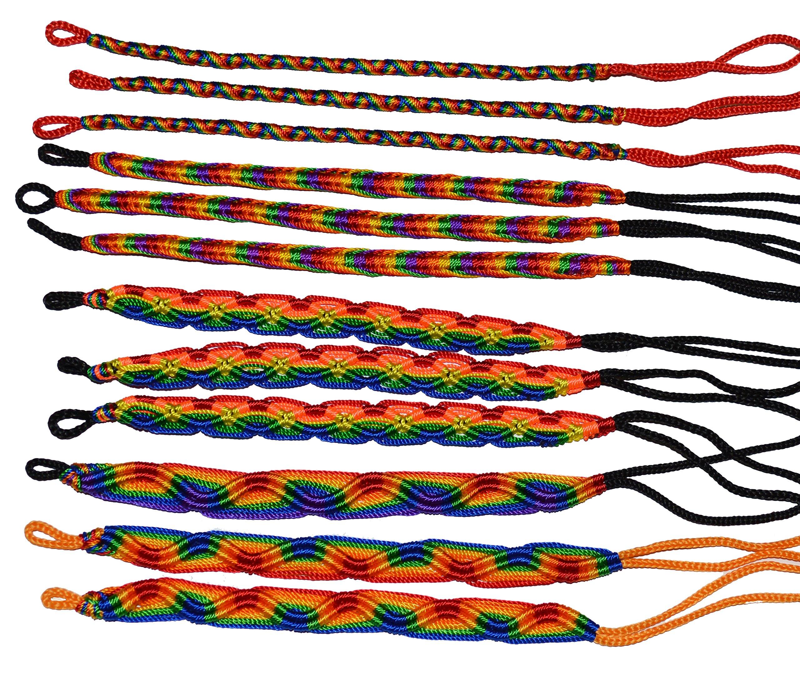 Rainbow Friendship Bracelets LOT 100 MIX From Peru Wholesale GAY Lesbian Pride by Handmade In Peru (Image #1)