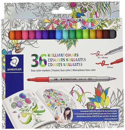 Amazon.com: Staedtler Duo color Markers (320C36JBLU) 36 pc.: Office ...