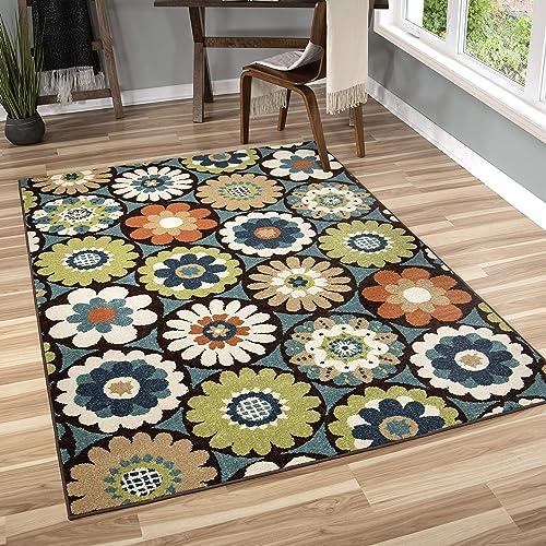 Orian Rugs 2315 Veranda Indoor Outdoor Vissage Area Rug 7 8 x 10 10 Gemstone