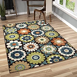 "product image for Orian Rugs Veranda Indoor/Outdoor Vissage Area Rug, 6'5"" x 9'8"", Gemstone"