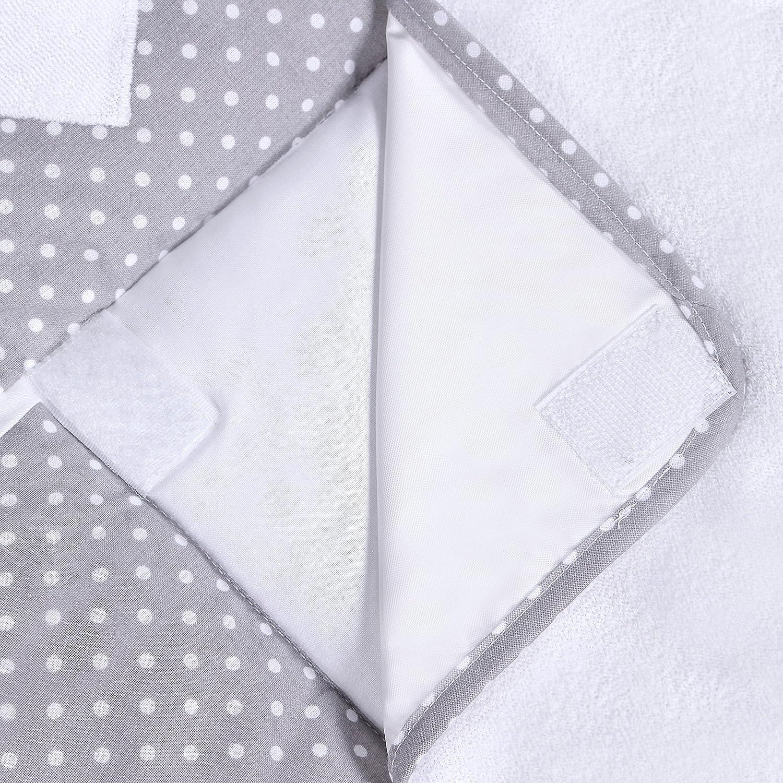 Grey f/ür die Kommode IKEA Malm Oberstoff 100 /% Baumwolle LULANDO Wickelauflage mit 2 abnehmbaren und wasserundurchl/ässigen Bez/ügen Passend u.a Blue Stars 76 x 76 cm