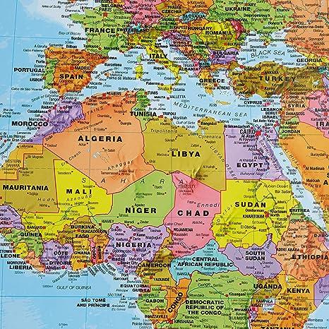 Amazon.com: Maps International Giant World Map - Mega-Map Of The ...
