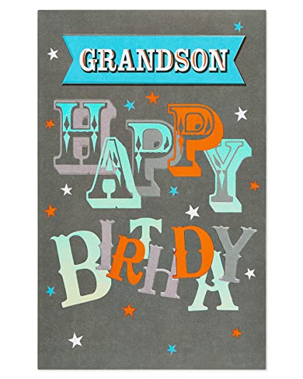 Amazon American Greetings Awesome Birthday Card For Grandson