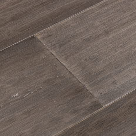 Cali Bamboo   Extra Wide Tu0026G Engineered Flooring, Boardwalk Gray, Hand  Scraped   Sample